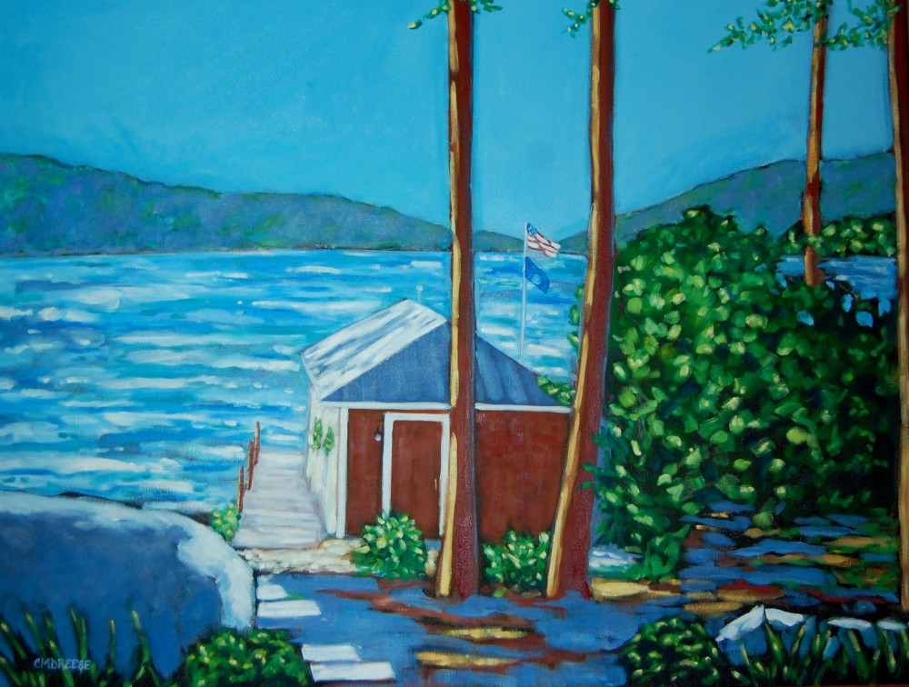 Commission Oil Painting heading to Torch Lake, Michigan