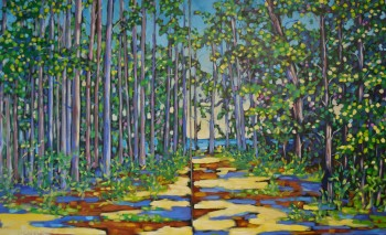 Dreese. Guided to the Lake. Dyptich.30x48