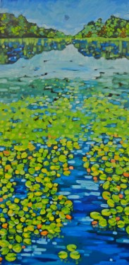Dreese. Lilliesonthelake24x48