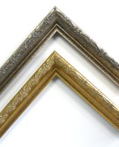 dreese picture frames ornate larson juhl silver gold 0002