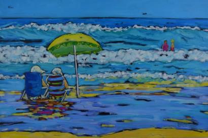 Beachgoers2 24x36