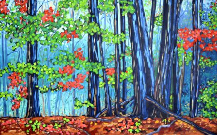 christi dreese hemlock crossing 30 x 48 oil